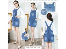Rok kodok jeans stretch # 221 M/L/XL