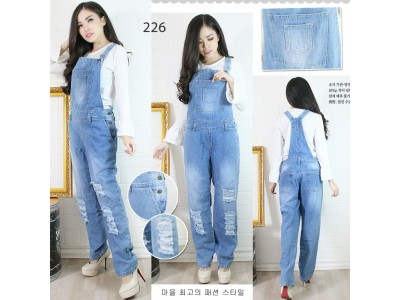 Overall jeans rip big size #226 2XL/3XL