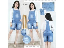 Celana overall jeans sobek #236 M/L/XL