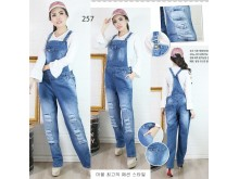 Overall celana jeans rip big size #257 XL/2XL/3XL