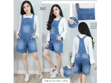 Celana overall jeans stretch jumbo #262 4XL/5XL