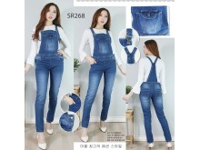 Overall jeans stretch tua #268 M/L/XL