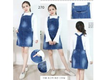 Rok overall jeans stretch jumbo #270 5XL