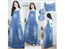 Overall Dress Jeans Ripped Jumbo #282 2XL/3XL/4XL