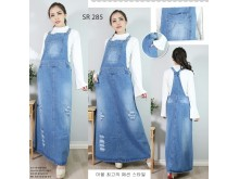 Overall Dress Jeans Ripped Standar #285 M L XL