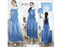 Overall dress jeans bawah jumbai #292
