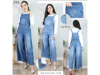 Overall Jeans Kulot All Size #293