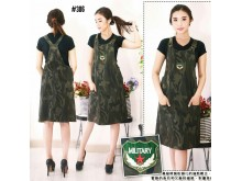 Overall Dress Army Stretch #306