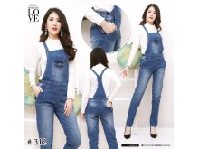 Overall jeans stretch panjang #312 M/L/XL
