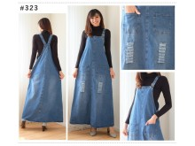 Overall dress jeans robek all size #323