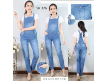 Overall jeans stretch panjang #326 M/L/XL