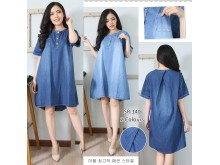Dress Kancing Jeans 2 Warna #340