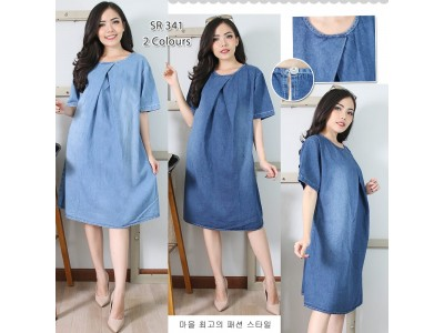 Dress Lekuk Jeans 2 Warna #341