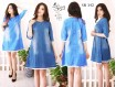 Dress Tunik Jeans Lengan 2 Warna Jumbo #342