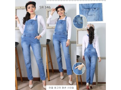 Overall jeans stretch panjang #346 M/L/XL