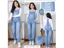 Overall jeans stretch panjang #351 M/L/XL
