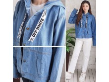 Jaket hoodie jeans off white #3671