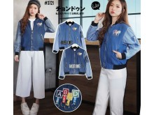 Jaket Sleting Denim Basic #3721