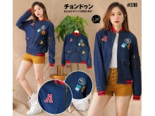 Jaket Bomber Denim 90s Kid #3788