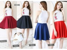 Dress Imlek Bordir Bunga #590