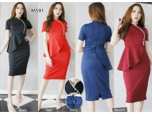 Cheongsam Dress Peplum #591