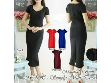 Dress Bodycon Scuba Polos Basic #59