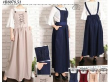 Overall dress tali katun serena #8078