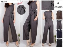 Jumpsuit Sleeveless With Side Bow #8150