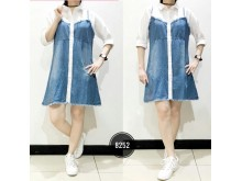 Kemeja Katun Kombi Dress Jeans #8252
