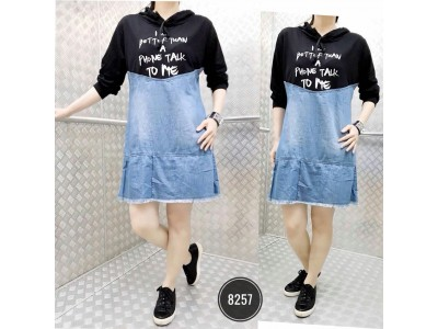 Dress jeans hoodie kombi babyterry #8257