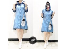 Kemeja Dress Jeans Topi #8275