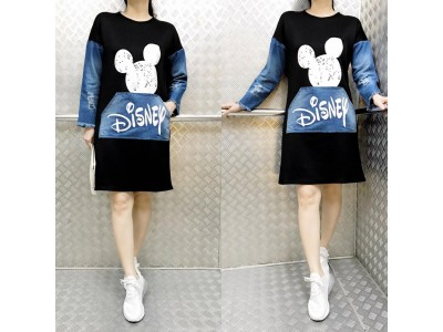 Dress Sweater Disney Scuba Mix Jeans #8875