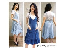 Dress jeans tunik tali #195