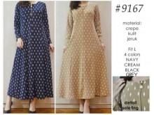 Dress Polkadot Crepe Seleting #9167