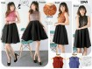 Flare Dress Kombi Brokat #2045
