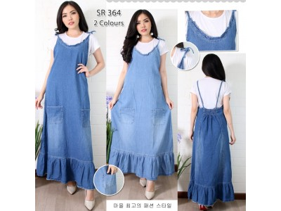 Overall Dress Jeans Renda #364