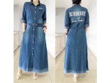 Gamis dress jeans maxi burberry #8751