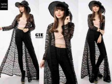 Long Cardi Brokat Import #1033