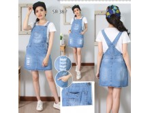 Rok Overall Jeans Robek #387 M L XL