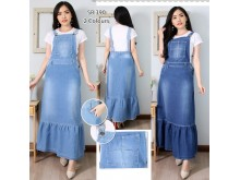 Overall Dress Jeans Strecth Renda #390 S M L