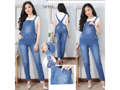Overall Jeans Stretch Polos #394 M/L