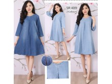 Dress Jeans Casual Lengan 3/4 #409