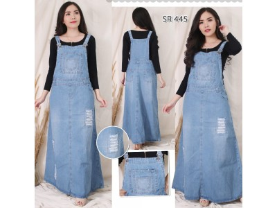 Jumpsuit Jeans Dress Sobek #445 2XL / 3XL / 4XL