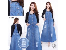 Jumpsuit Jeans Dress Sobek #459 M / L / XL