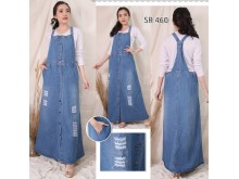 Jumpsuit Dress Full Button Sobek #460 2XL/3XL/4XL