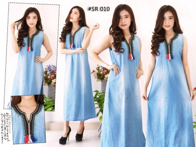 Tunik Jeans Sleeveless #010