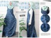 Overall Dress Jeans Motif Bunga #3030